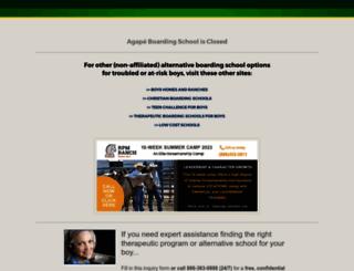 agapeboardingschool.org screenshot