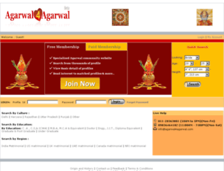 agarwal4agarwal.com screenshot