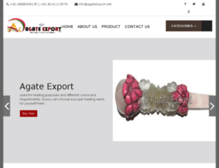 agateexports.com screenshot