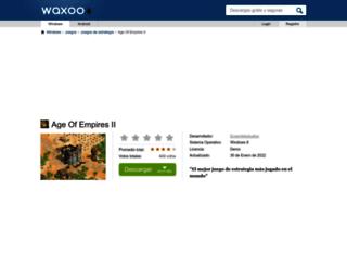 age-of-empires-ii.waxoo.com screenshot