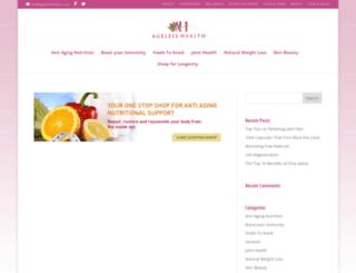 agelesshealth.co.uk screenshot