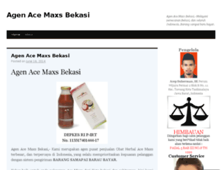 agenacemaxsbekasi01.wordpress.com screenshot