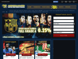 agenbolasuper.com screenshot