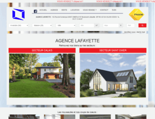 agence-lafayette-immo.com screenshot