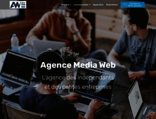 agence-media-web.be screenshot