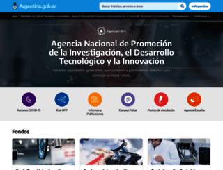 agencia.mincyt.gob.ar screenshot