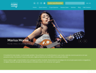 agenciafebre.com.br screenshot