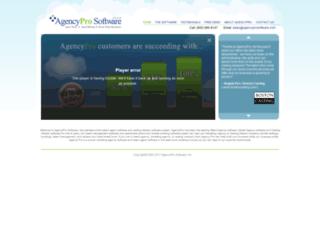 agencyprosoftware.com screenshot