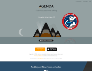 agenda.com screenshot
