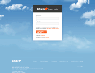 agenthub.jetstar.com screenshot