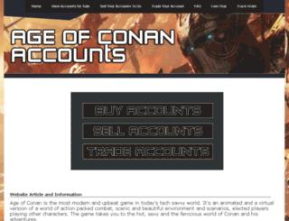 ageofconanaccount.com screenshot