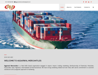 aggarwalmercantiles.com screenshot