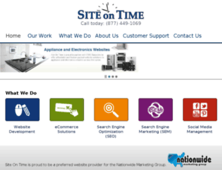 aggressiveappliances.siteontime.com screenshot