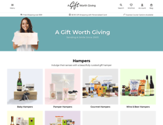 agiftworthgiving.com.au screenshot