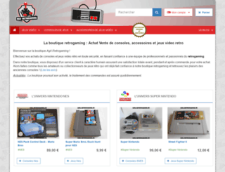 agil-retrogaming.fr screenshot