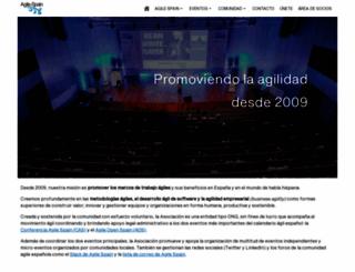 agile-spain.org screenshot