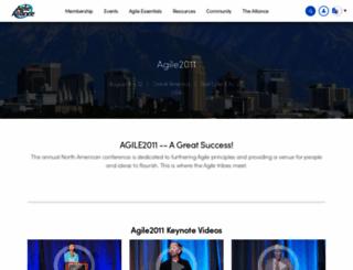 agile2011.agilealliance.org screenshot