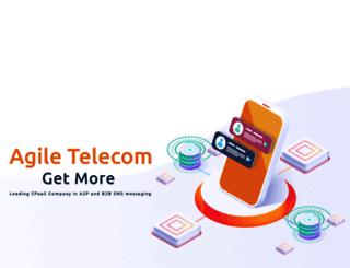 agiletelecom.com screenshot