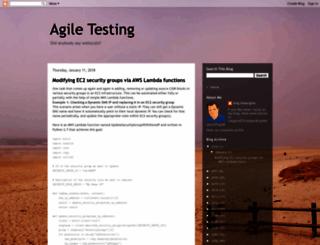 agiletesting.blogspot.com screenshot