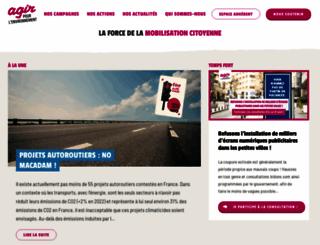 agirpourlenvironnement.org screenshot
