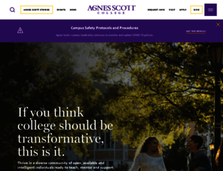agnesscott.edu screenshot