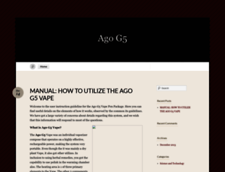agog5.wordpress.com screenshot