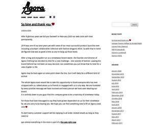 agoraclothing.com screenshot