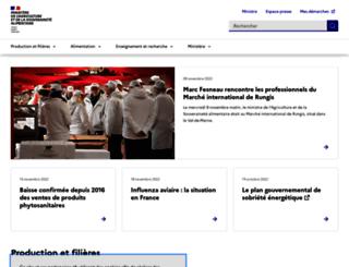 agriculture.gouv.fr screenshot