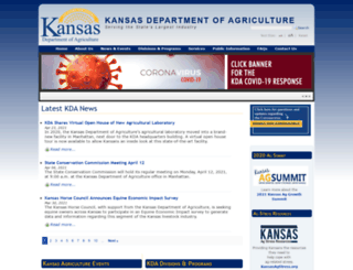 agriculture.ks.gov screenshot