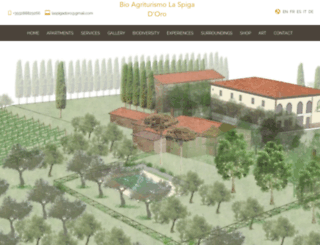 agriturismolaspigadoro.it screenshot