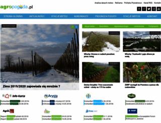 agropogoda.pl screenshot