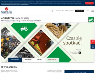 agrotech.targikielce.pl screenshot