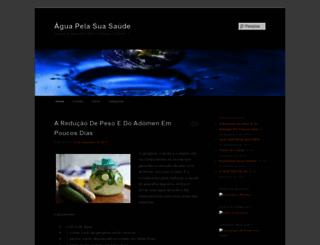aguapelasuasaude.wordpress.com screenshot