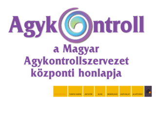 agykontroll.hu screenshot