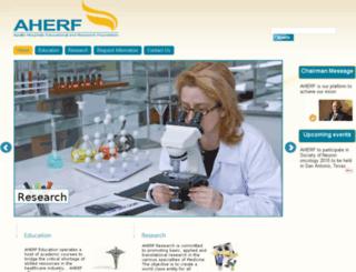 aherf.org screenshot