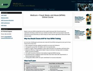 ahipmedicaretraining.com screenshot