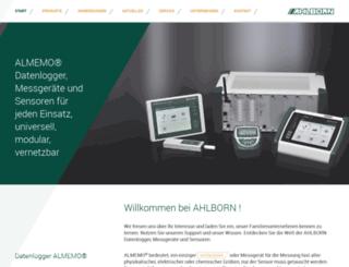 ahlborn.com screenshot
