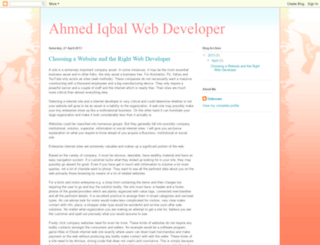 ahmediqbalwebdeveloper.blogspot.com screenshot