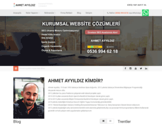 ahmetayyildiz.com screenshot