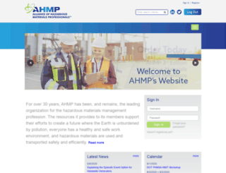 ahmpnet.org screenshot