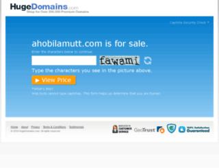 ahobilamutt.com screenshot
