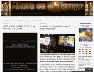 ahoraeseltiempo.wordpress.com screenshot
