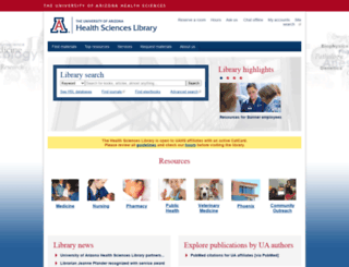 ahsl.arizona.edu screenshot