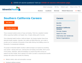 ahsocalcareers.com screenshot