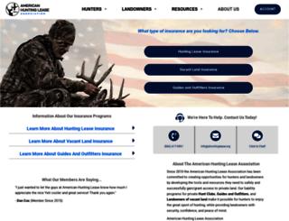 ahuntinglease.org screenshot