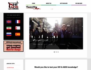aidslinkinternational.org screenshot