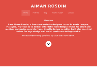 aimanrosdin.com screenshot