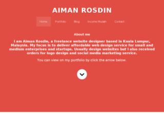 aimanrosdin.com screenshot