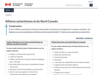 ainc-inac.gc.ca screenshot