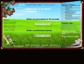 aipoem.com screenshot